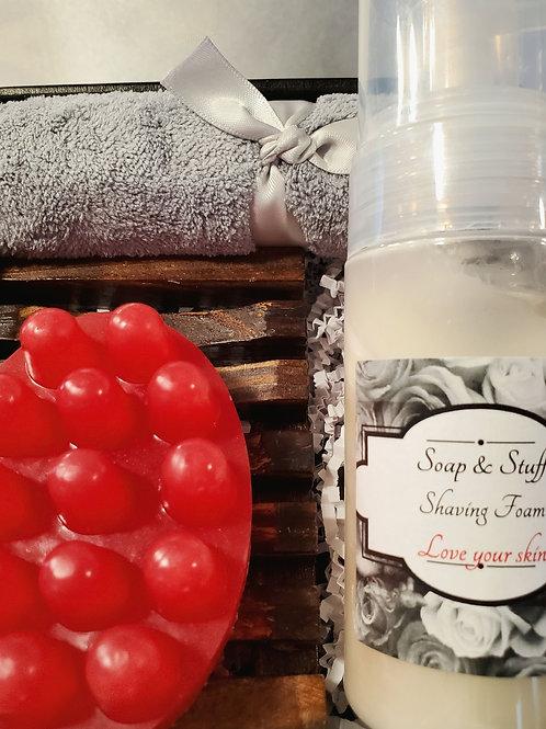 Shaving Foam and Massage Bar Gift Set