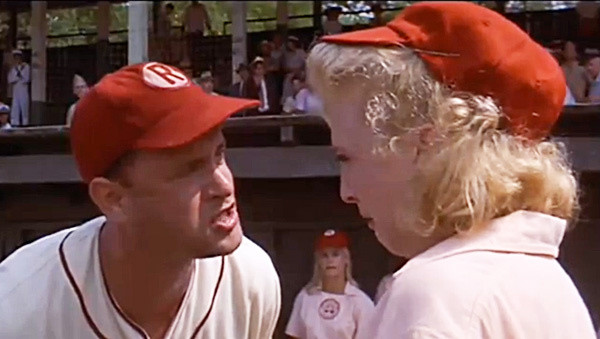 """Tom Hanks and Bitty Schram in """"A League of Their Own"""""""
