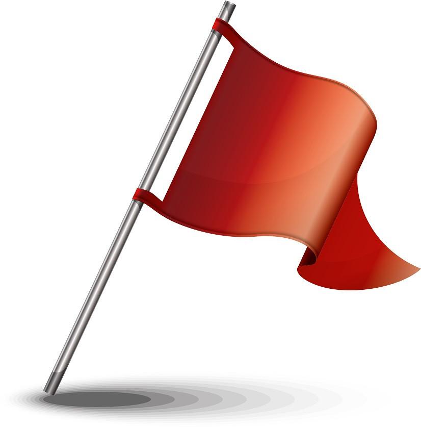 A big red flag