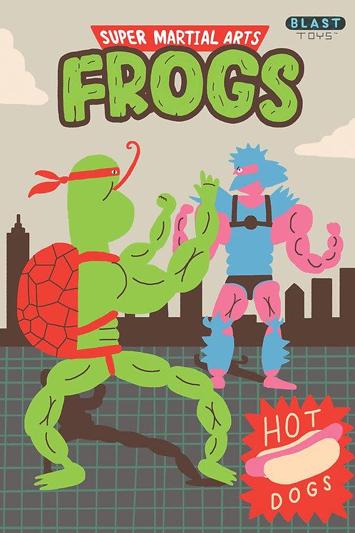 Super Martial Arts Frogs print