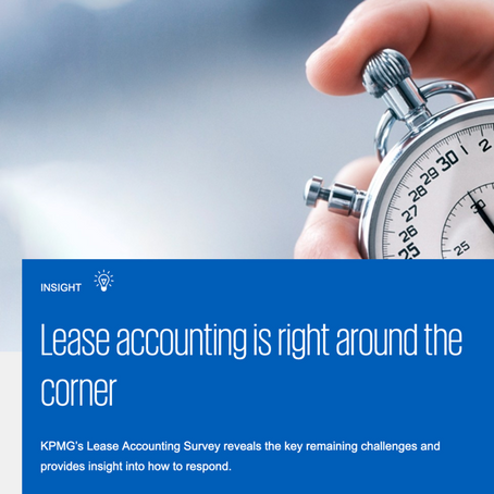 KPMG: Lease Accounting is Right Around the Corner