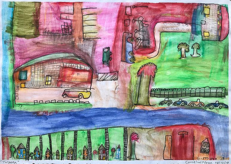 watercolour, pencil  on paper