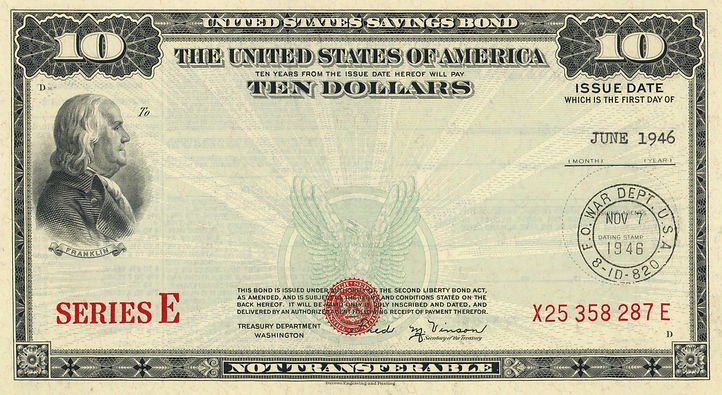 1946 $10 War Savings Bond