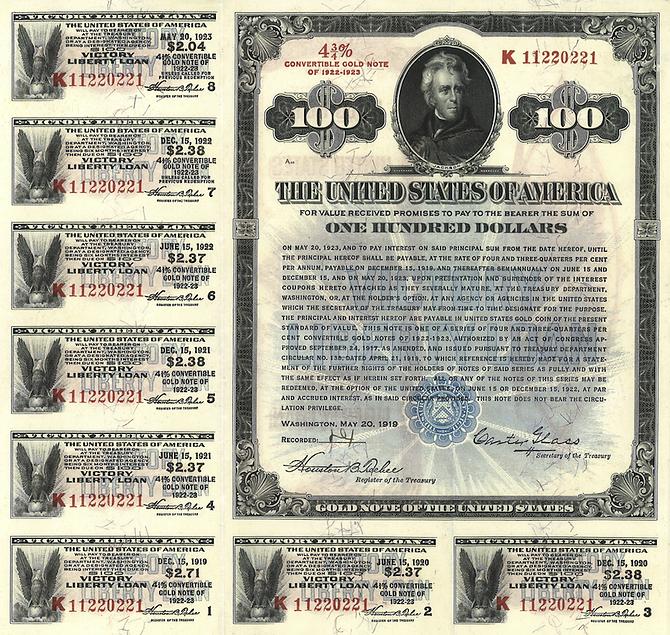 1919 $100 Victory Liberty Loan