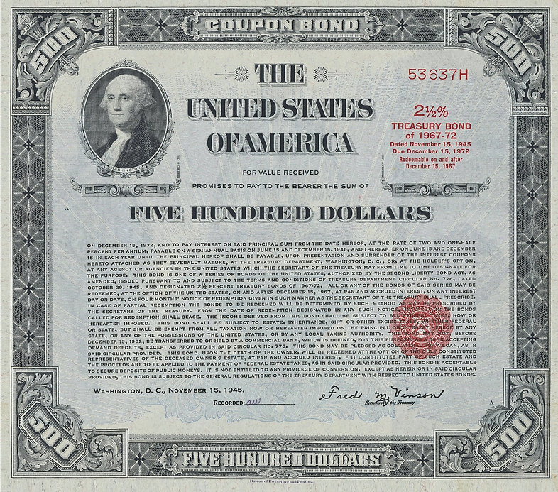 1945 $500 Registered Bond (front).JPG
