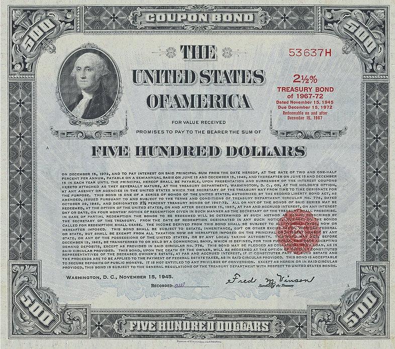 1945 $500 Registered Bond (front).JPG