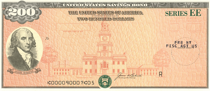 1988 $200 Savings Bond Series EE (restor