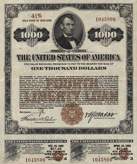 1918 $1000 Fourth Liberty Loan