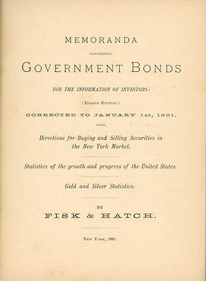 1861 Memoranda Concerning Govt Bonds Tit