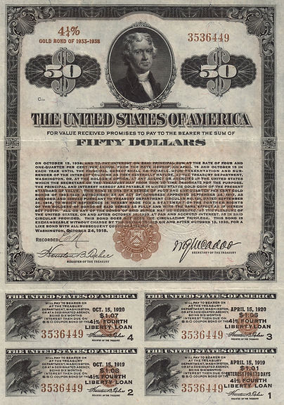 1918 $50 Fourth Liberty Loan