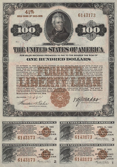 1918 $100 Fourth Liberty Loan