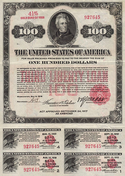 1918 $100 Third Liberty Loan