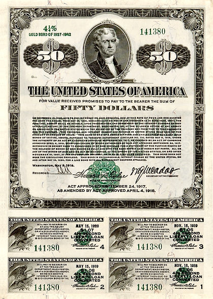 1918 $50 4.25% Second Liberty Loan Conve