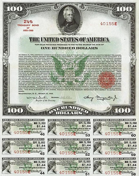 1935 $100 Treasury Bond