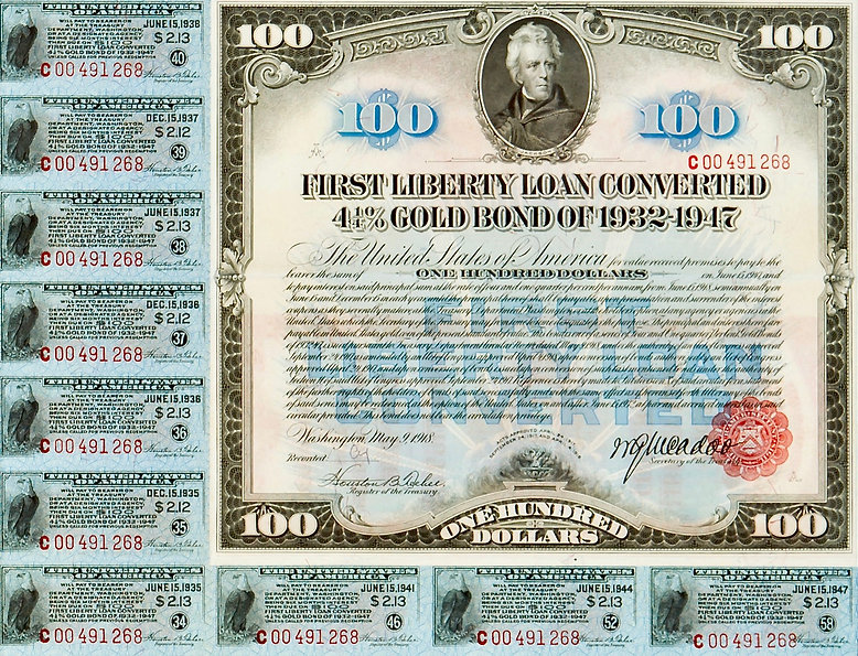 1918 $100 4.25% First Liberty Loan Conve