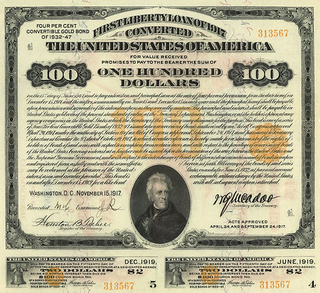1917 $100 4% First Converted Short (fron