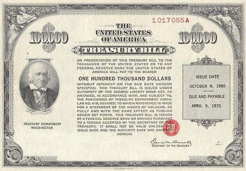 1969 $100K Treasury Bill