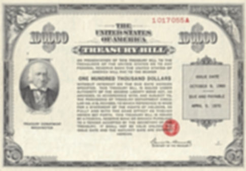1969 $100K Treasury Bill