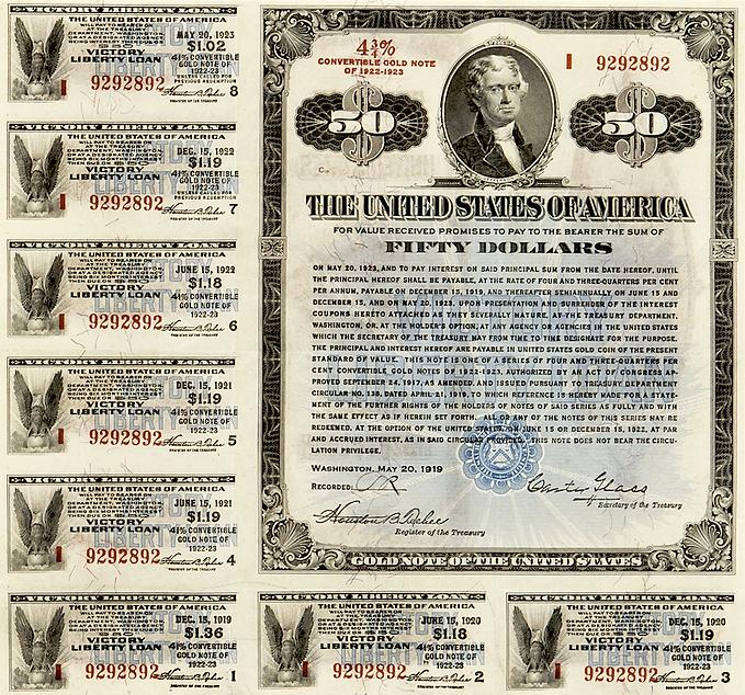 1919 $50 Victory Liberty Loan