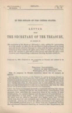 1894 Letter from the Sec of Treasury to