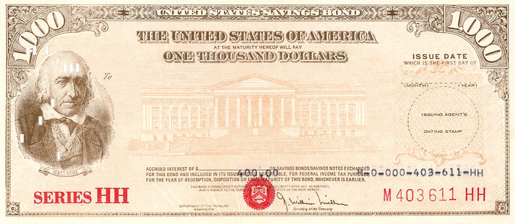 1980 $1000 Series HH Savings Bond