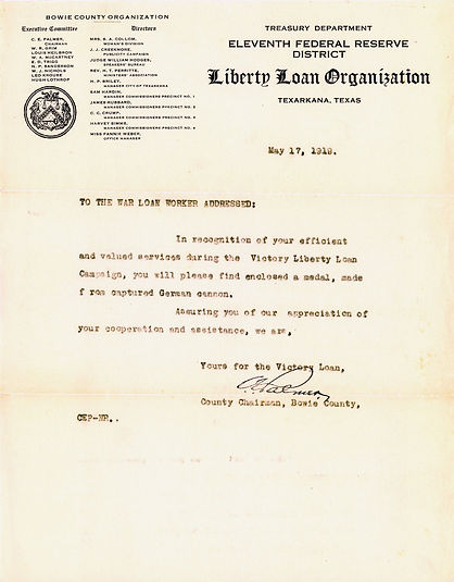 1919 11th Federal Reserve Dist Letter co