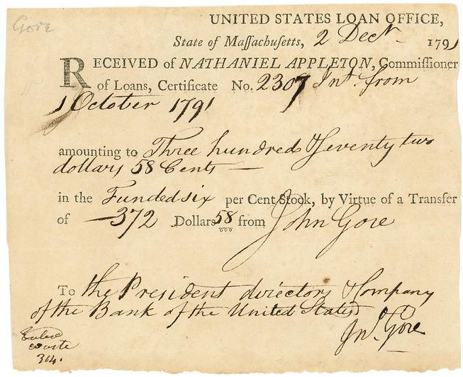 1791 Bank of the US Loan Receipt copy.jp