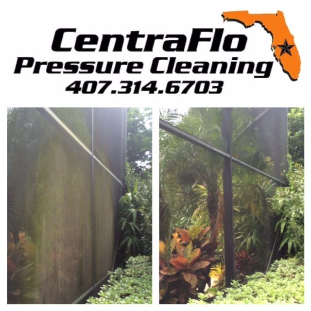 Pressure Clean Screen Enclosure