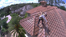 8,000 sq/ft Tile Roof Cleaning w/ Rope Operation!