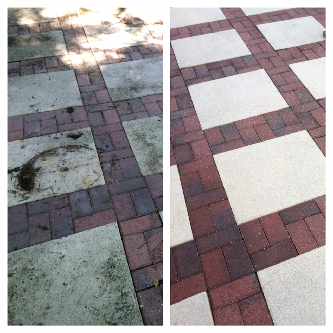 Pressure Wash Pavers