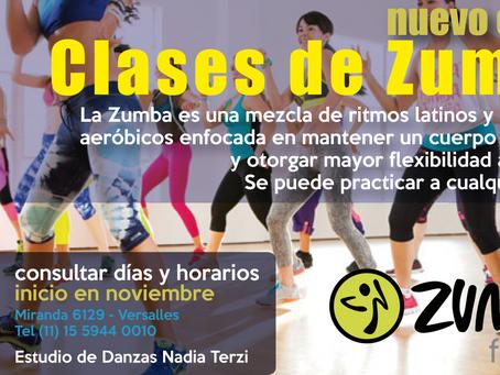 Zumba, nuevo curso!