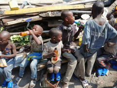 ndoto kidos drinking juice made in goma