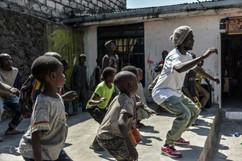 Teacher guelor house dance kids at Ndoto