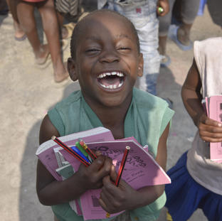 When Ndoto Goma kids gives them a smilee