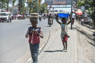 ndoto selling nuts fo surving in goma's street