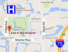 Pack-N-Ship Map Location in Miramar FL