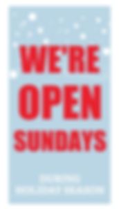 we are open on sunday