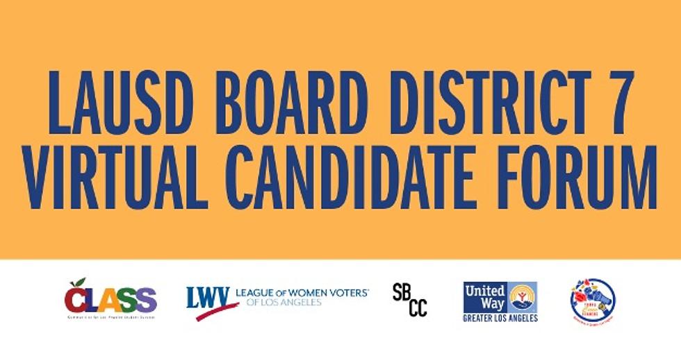 LAUSD Virtual Candidate Forum