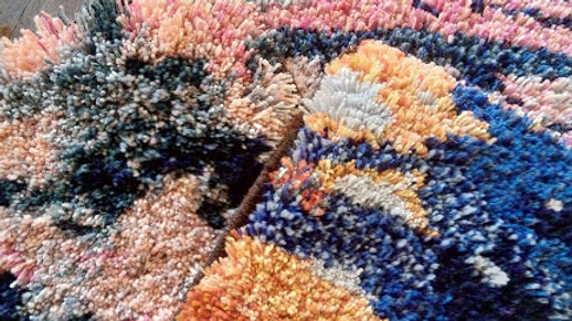Custom made knotted pile rug