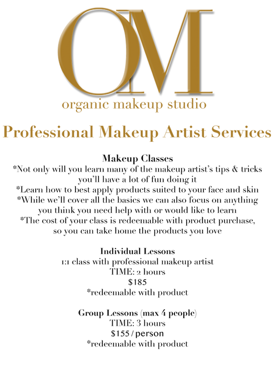 OM Organic Makeup Sudio Logo