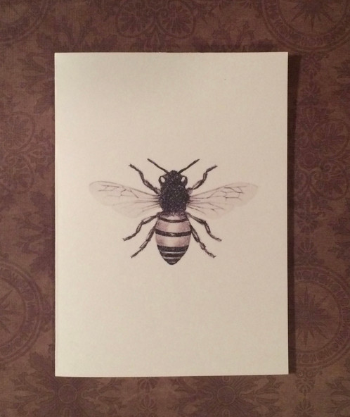 Excellent 12 Handmade Blank Bee Print Notecards | The Chubby Chickadee  RG33