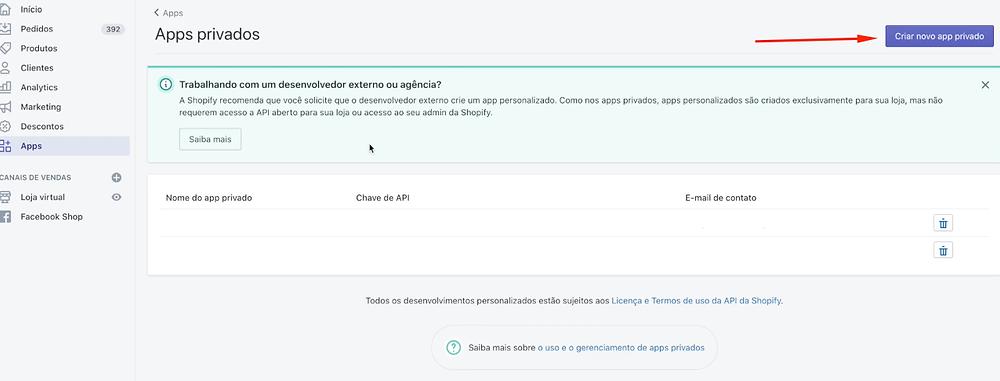Como configurar checkout transparente em sua conta Shopify