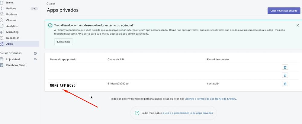 Como configurar checkout transparente lojas Shopify