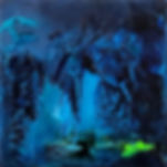 A square blue cave image
