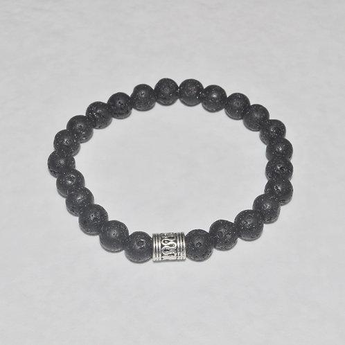 Men's Lava Stone Stretch Bracelet B166-SS