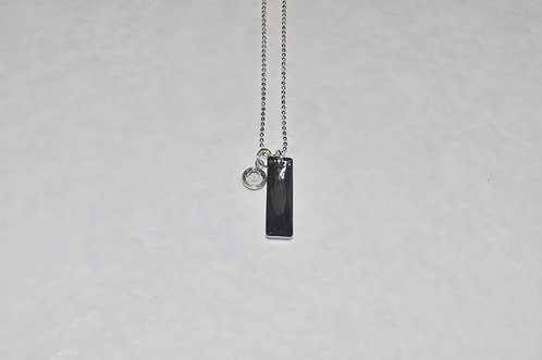 Silver Night Baguette Necklace NS122-SS