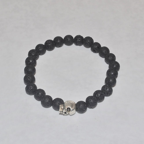 Men's Lava Stone Stretch Bracelet B174-SS