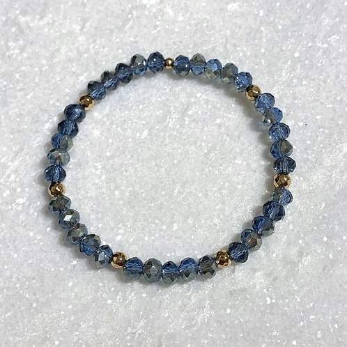 Blue Shimmer Stretch Bracelet B096-RG