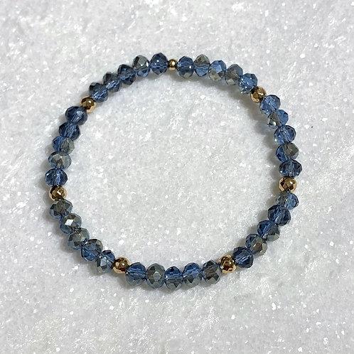 Blue Shimmer Stretch Bracelet B144-GF