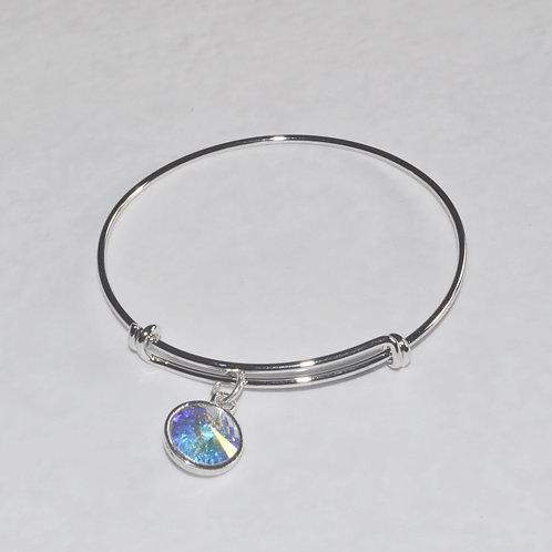 Silver Expandable Bracelet - B088-SS